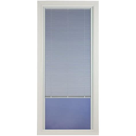 glass door with blinds shop pella venetian white view aluminum door with blinds between the glass common