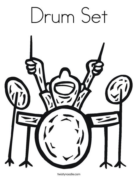 Fascinations Metal Earth Rock Band Drum Set drum set coloring page twisty noodle