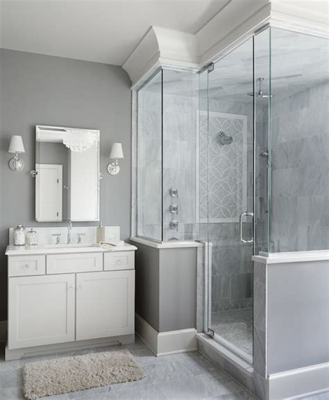 paint colours for bathrooms with grey tiles wilshire single sconce transitional bathroom summit