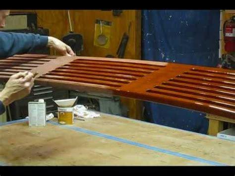 how to make a boat swim platform preparing and varnishing teak swim platform preview