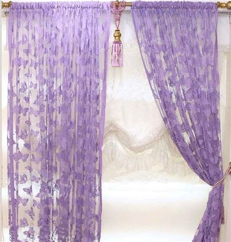 butterfly door curtain purple butterfly curtains mauve purple butterfly