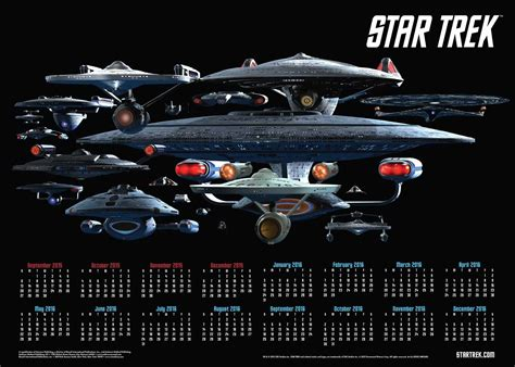 Calendario 2015 Da Stare 2016 Trek Calendars Trektoday
