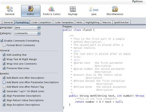 format html code in netbeans 在 netbeans 中自动换行评论 广瓜网