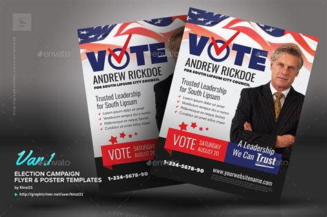 powerpoint templates for election posters election caign flyer or poster templates by kinzi21