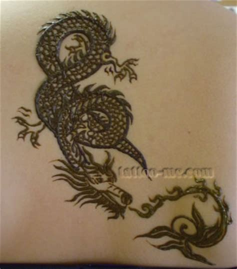 henna dragon tattoo dragons and snakes henna me