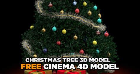free christmas tree 3d model 171 cinema 4d tutorials