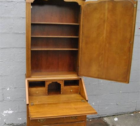 chippendale style narrow 28 quot wide writing desk with