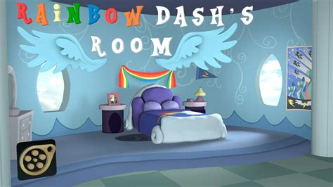 rainbow dash s house rainbow dash s room