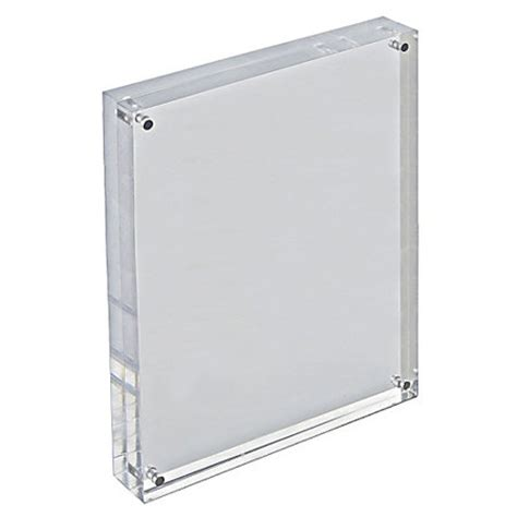 Display Acrylic A4 Horizontal azar displays acrylic verticalhorizontal block frame 8 12 x 11 clear by office depot officemax