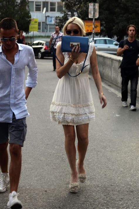 Lindsay Lohan In A White Dress by Lindsay Lohan White Dress Candids In Italy 01 Gotceleb