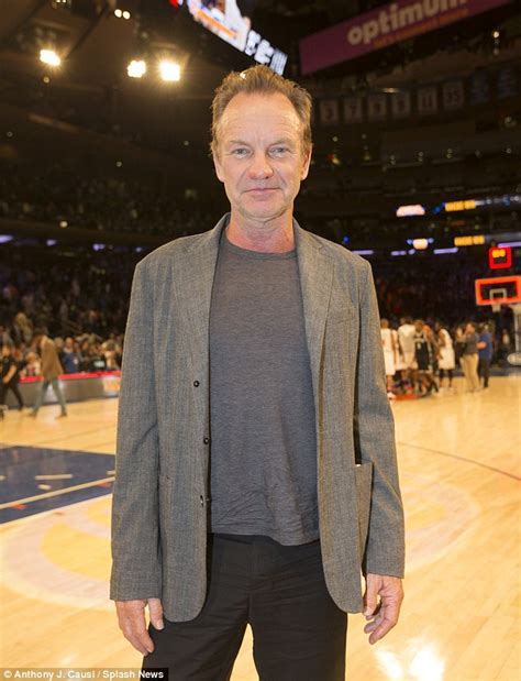 Sting Keeps The Going by Sting Shows His Toned Arms As He Sits Courtside For A