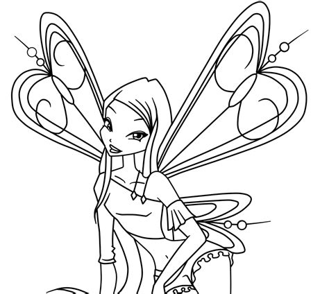 Free Winx 3 Tecna Coloring Pages Winx Coloring Page