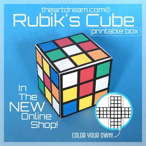 printable paper rubik s cube rubik s cube paper craft printable