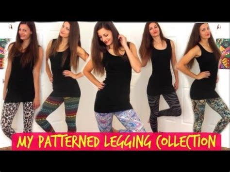 patterned tights youtube my patterned leggings lookbook how to wear printed
