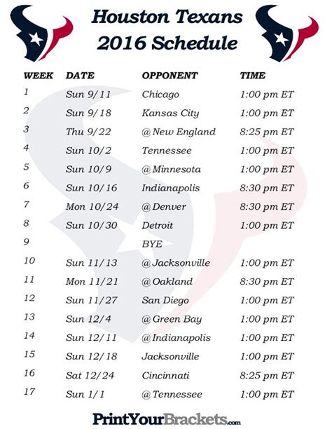 printable nfl schedule pdf 2016 99 best printable nfl schedules images on pinterest
