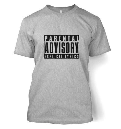 parental advisory lyrics t shirt somethinggeeky