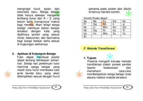 format buku saku buku saku tutor keaksaraan
