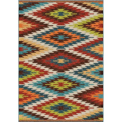 Aztec Outdoor Rug Kaleen Escape Gold 8 Ft X 10 Ft Indoor Outdoor Area Rug Esc11 05 810 The Home Depot