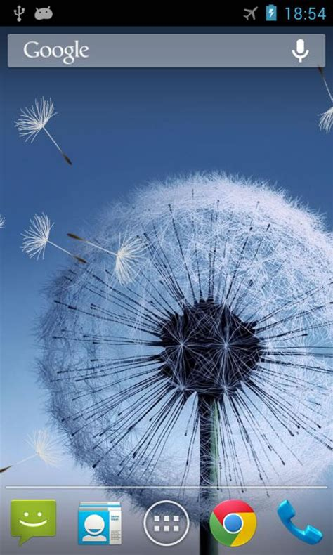 wallpaper samsung galaxy live galaxy s3 and s4 dandelion and ballon live wallpaper