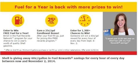 Shell Sweepstakes - shell fuel sweepstakes enter to win free gas for a year other prizes