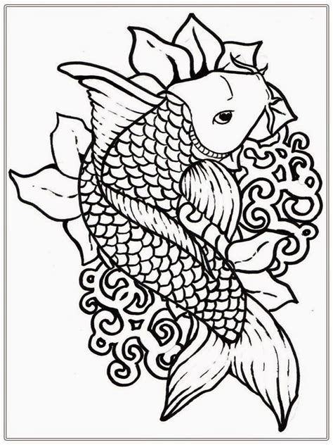 free coloring book pages japanese koi coloring pages and print for free