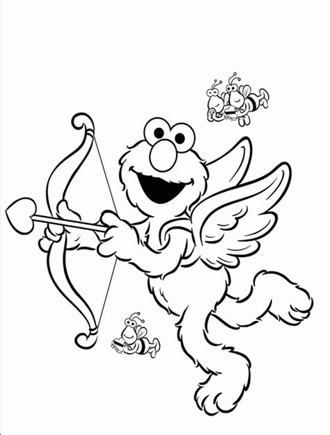 elmo valentine coloring page print download elmo coloring pages for children s home