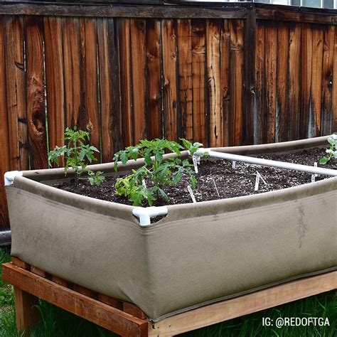 Fabric Raised Garden Beds by 4x16 Fabric Raised Bed Grassroots Fabric Pots