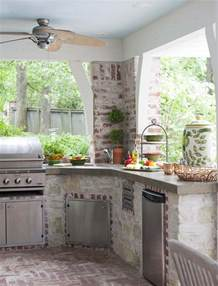 Patio Kitchen Ideas by 56 Cool Outdoor Kitchen Designs Digsdigs