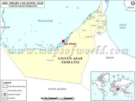 abu dhabi map location where is abu dhabi location of abu dhabi in united arab