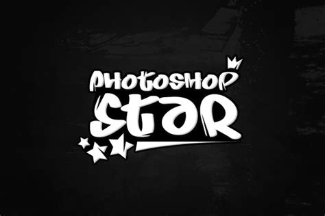stylish logo design photoshop simple cool urban style logo photoshop star