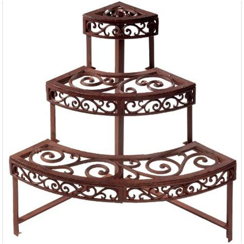 Outdoor Etagere Plant Stand etagere garden plant stand quarter the garden factory