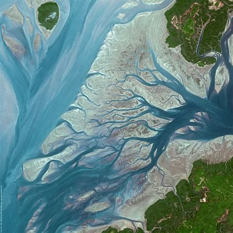 Pink Afrika 0055 satellite image geba river guinea bissau by spotimage