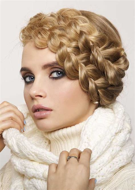 braided hairstyles milkmaid style 2 the milkmaid braid short hairstyle 2013