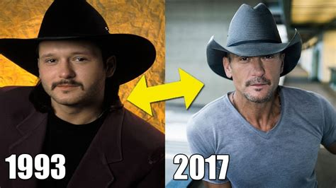 What Is Tim Doing Now by Tim Mcgraw Transformation From 1990 To 2017 Then And Now