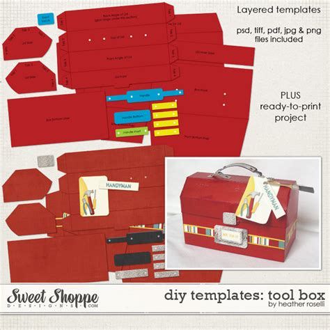 tool box card template 8 best images of tool box printable template tool belt