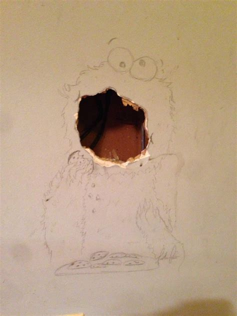 fix hole in wall now this how to disguise a hole in the wall the poke