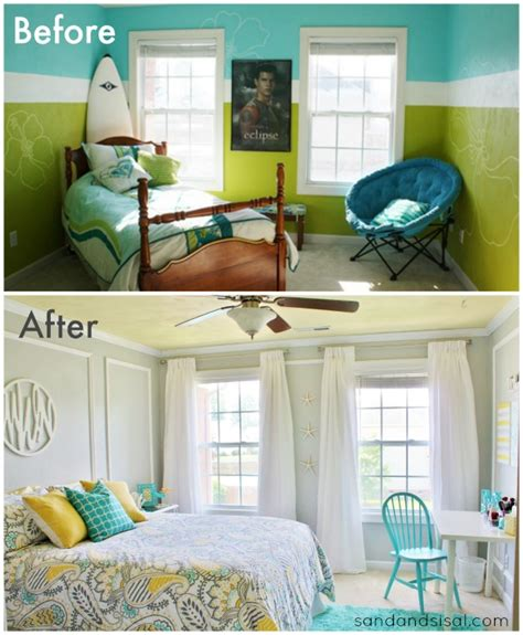 room makeover before and after teen room makeover sand and sisal