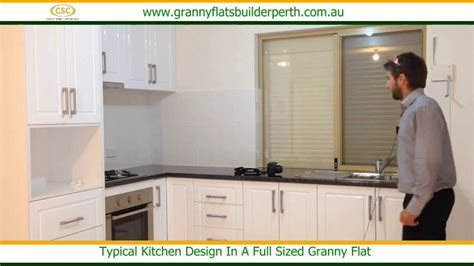 flat kitchen design a typical kitchen design in a full sized granny flat youtube