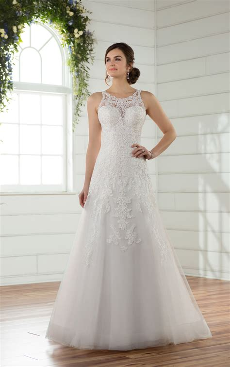 A Line Wedding Gowns by Wedding Dresses A Line Wedding Dress With Beaded