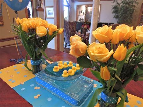 """Present Table 6""""Baby Shower"""" Rubber Duck Theme.   Shelley Beatty"""