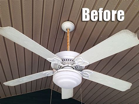 Can You Paint A Ceiling Fan by The Great Outdoor Fan Renovation Living Rich On