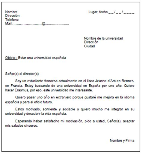 Exemple De Lettre De Motivation Erasmus Modele Lettre De Motivation Mobilite Document