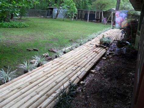 Landscape Timber Wheelbarrow Use Landscape Timbers To Make Walkway Welcome To My