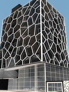 alibaba headquarters wrapped in a spiderweb like solar voronoi diagram in architecture voronoi diagram facade