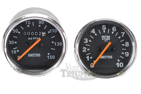 Speedometer R25 By Tiger Part smith reproduction gauges new tach and speedo combo
