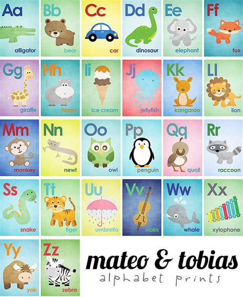 Smart Card Letters A Z set of 26 alphabet cards a to z alphabet wall 5x7