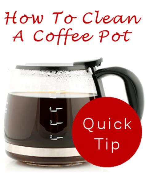 how to clean a coffee pot plus tips tipnut com
