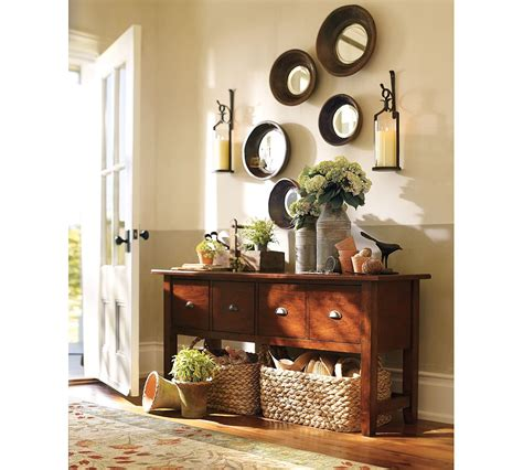 pottery barn buffet decorating ideas