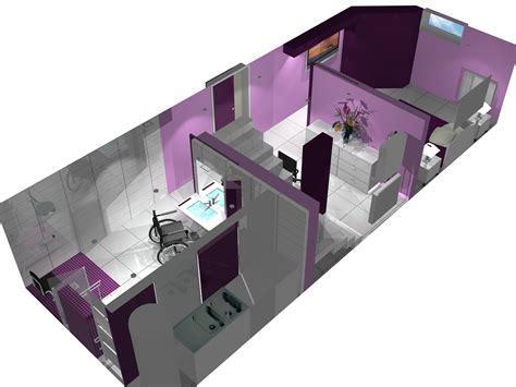 maquette 3d d une salle d eau de luxe pour une personne