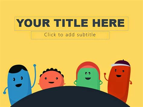 powerpoint themes free download cute cute monster powerpoint templates